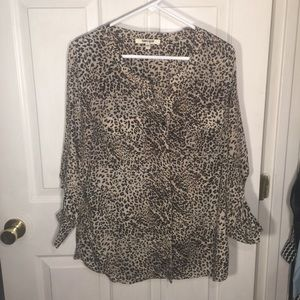 Daniel Rainn Animal Print Blouse